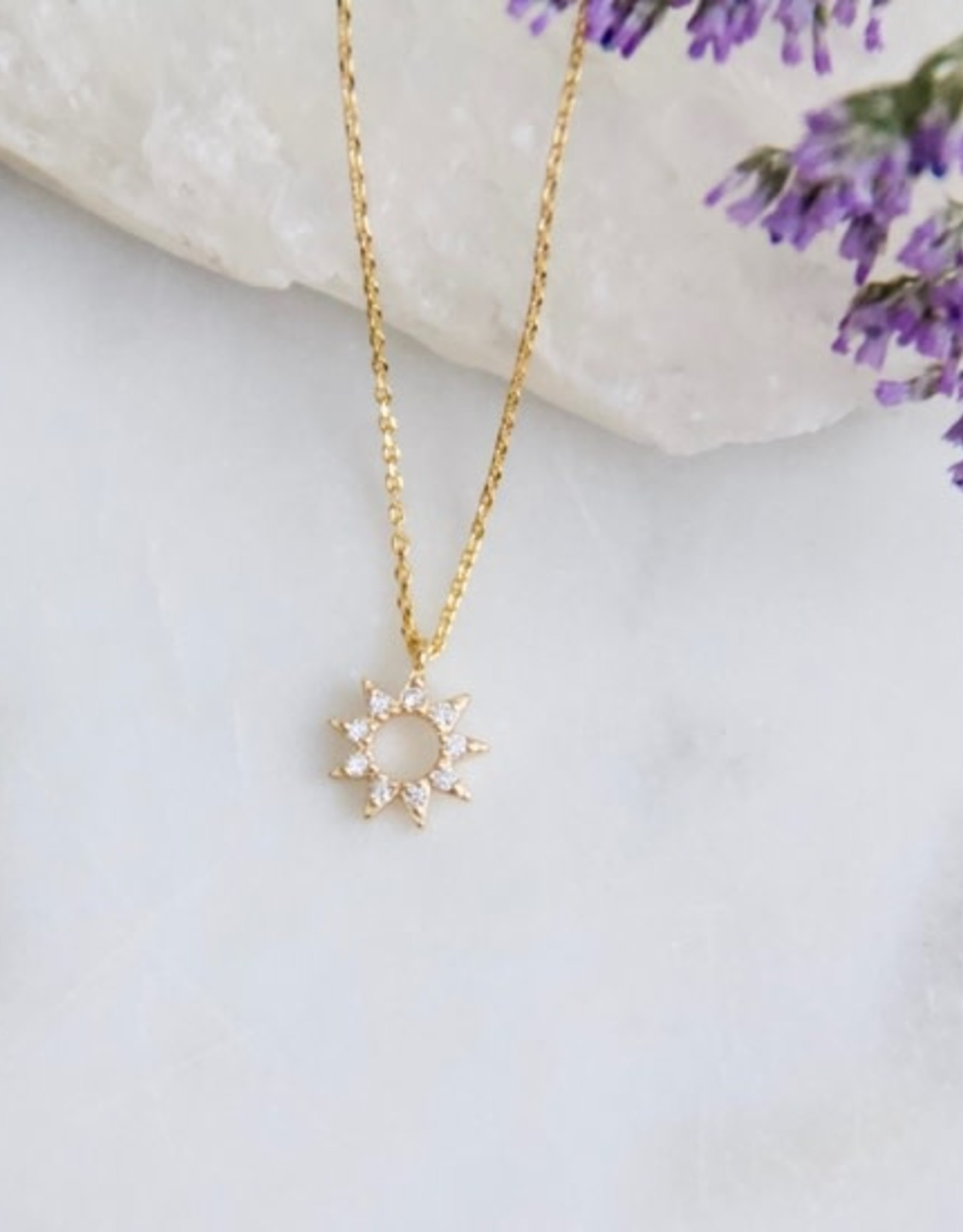 Mesa Blue Mini Sun Necklace