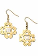 David Howell & Company Gibson Girl Gold Earrings