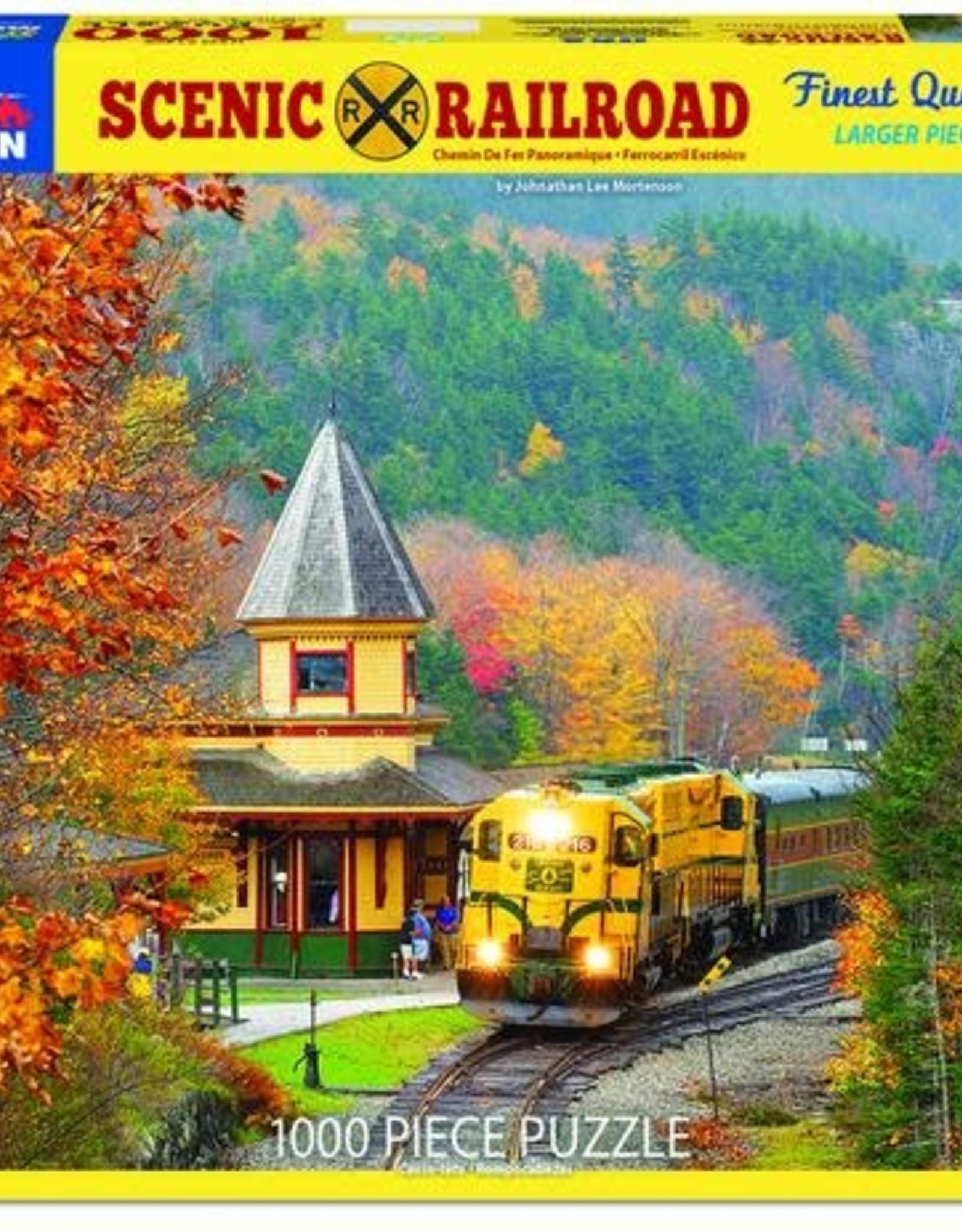 White Mountain Puzzles Scenic Railroad 1000pc Puzzle