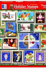 White Mountain Puzzles Holiday Stamps 500pc Puzzle