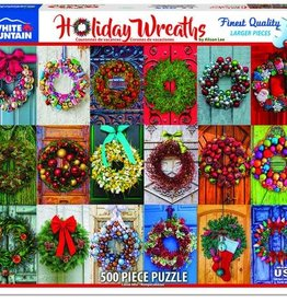 White Mountain Puzzles Holiday Wreaths 500pc Puzzle