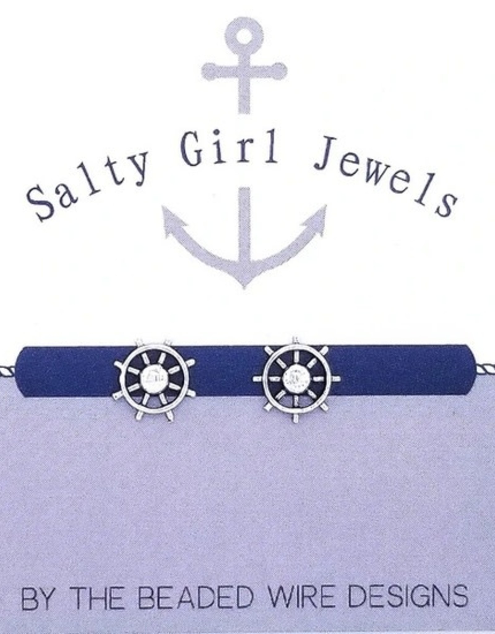 The Beaded Wire Petite Ships Wheel Stud