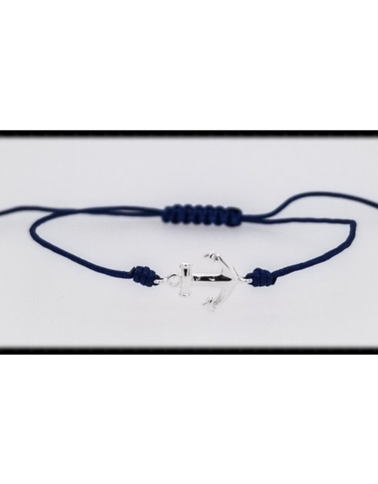 The Beaded Wire Adjustable Cord Bracelet - Anchor