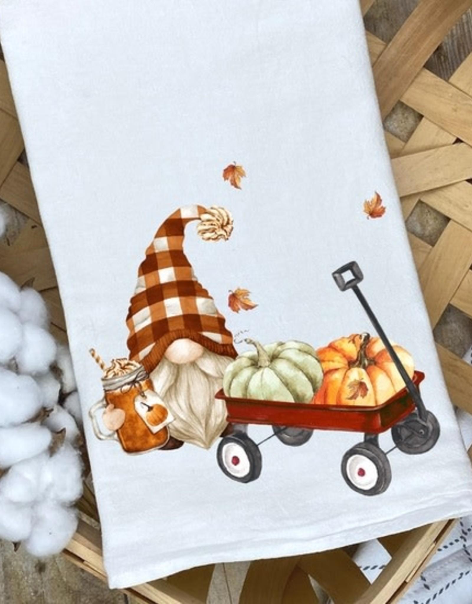 Kitchen Billboards Harvest Wishes Wagon Gnome Kitchen Towel