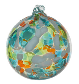 "Kitras Glass 6"" Calico Ball - Cool Breeze"