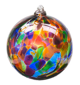 "Kitras Glass 6"" Calico Ball - Festival Multi"