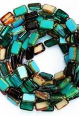 """Stefanie Wolf Designs 60"""" Trilogy Necklace Emerald Forest"""