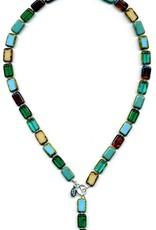 "Stefanie Wolf Designs 18"" Trilogy Collection Necklace Emerald Forest"
