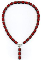 """Stefanie Wolf Designs 18"""" Trilogy Collection Necklace Red"""
