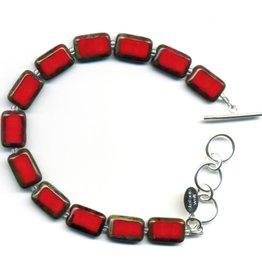 Stefanie Wolf Designs Trilogy Bracelet 1 Strand Red