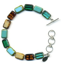 Stefanie Wolf Designs Trilogy Bracelet 1 Strand Emerald Forest