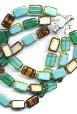 Stefanie Wolf Designs Trilogy Bracelet 3 Strand Emerald Forest
