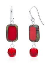 Stefanie Wolf Designs Trilogy Earrings Red