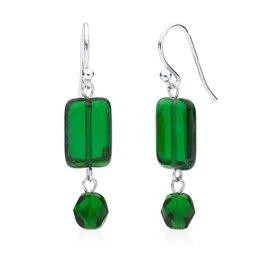 Stefanie Wolf Designs Trilogy Earrings Emerald