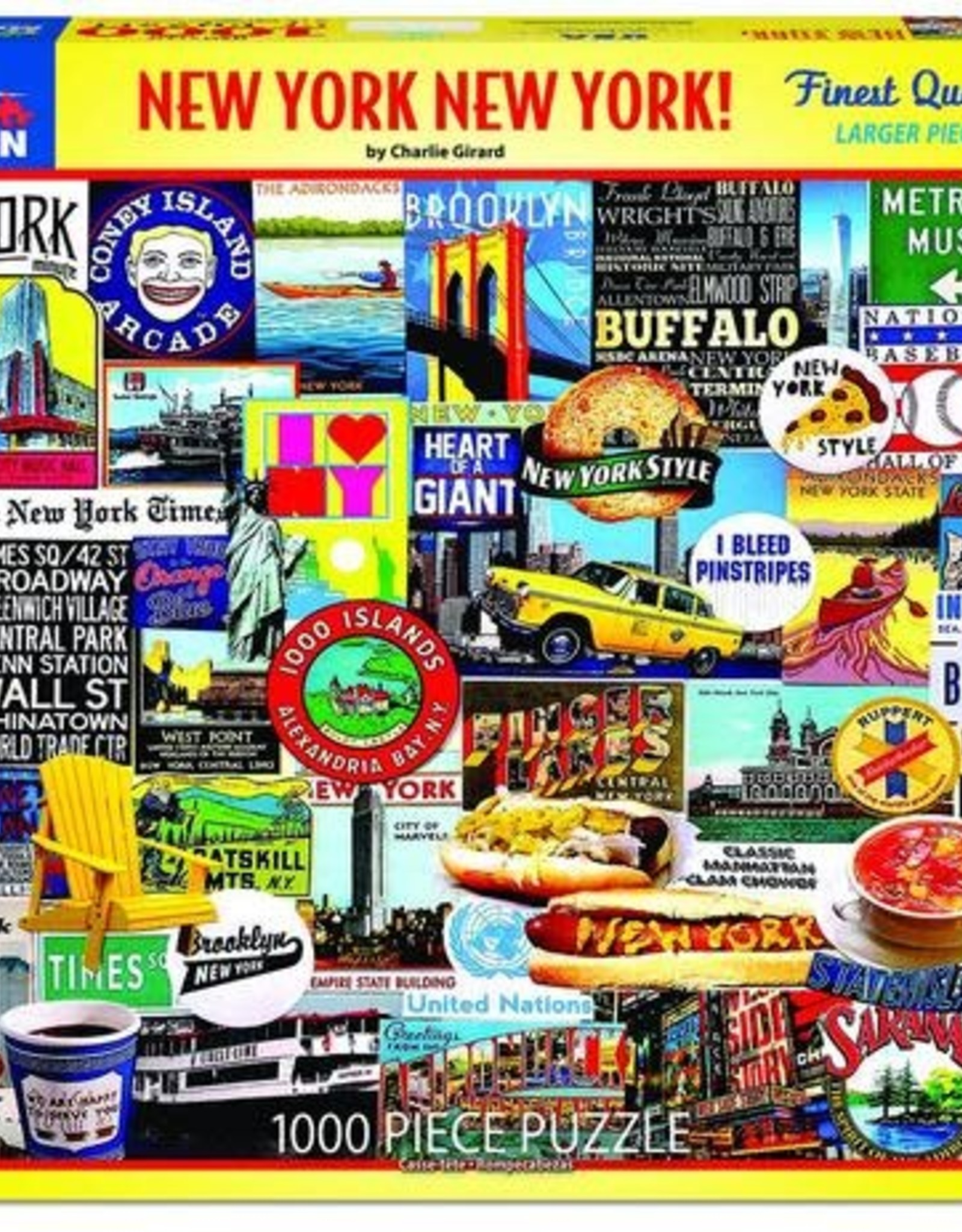 White Mountain Puzzles New York New York 1000pc Puzzle