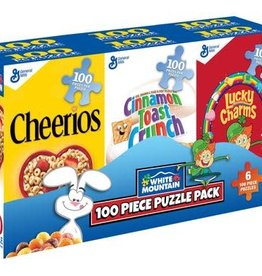 White Mountain Puzzles Mini Cereal Boxes 100pc Puzzle Set