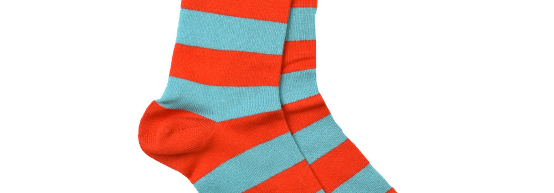 Red/Cornflower Socks