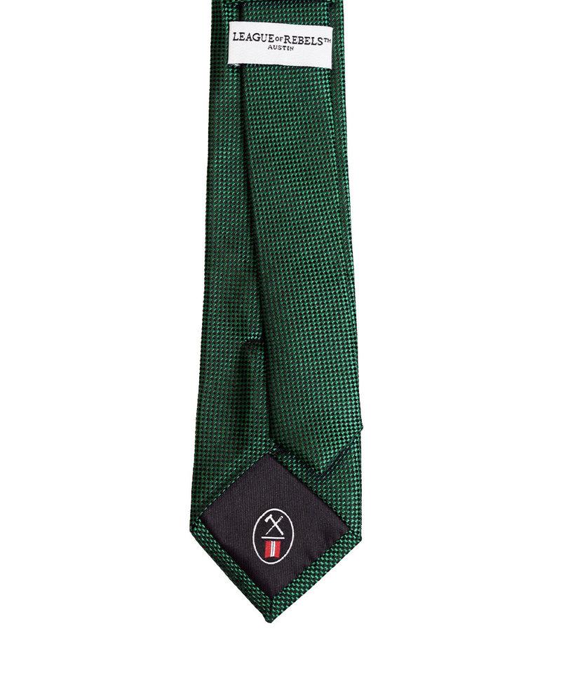 League of Rebels Green Slim Necktie