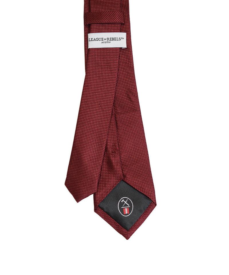 League of Rebels Maroon Slim Necktie