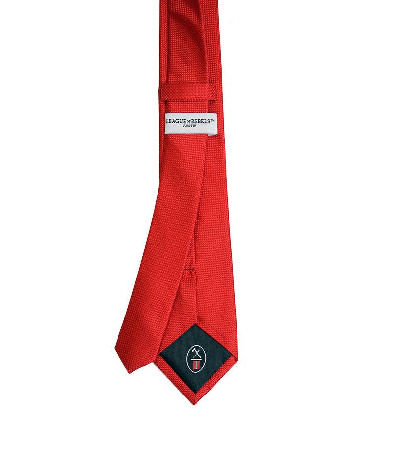 League of Rebels Red Slim Necktie
