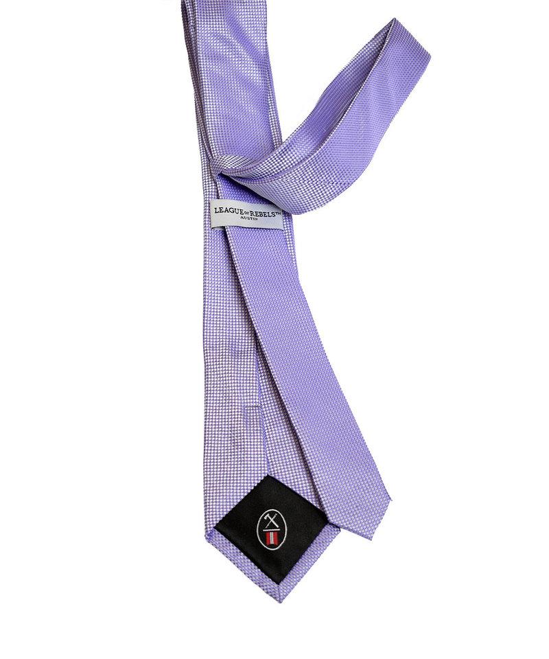 League of Rebels Violet Slim Necktie