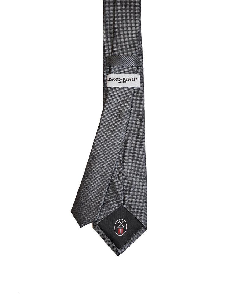 League of Rebels Charcoal Slim Necktie