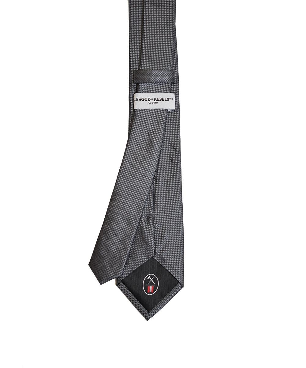 Charcoal 'Slim' Necktie-2