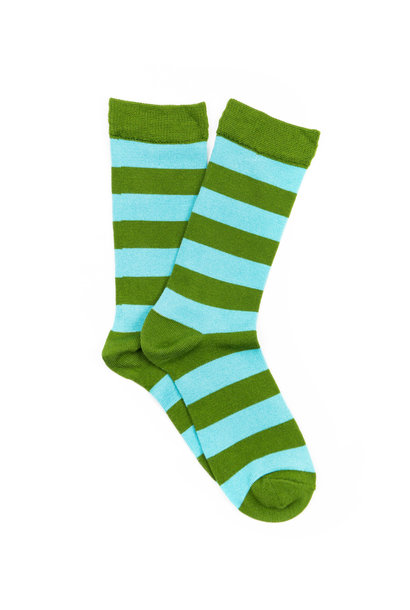 Cornflower-Olive Socks