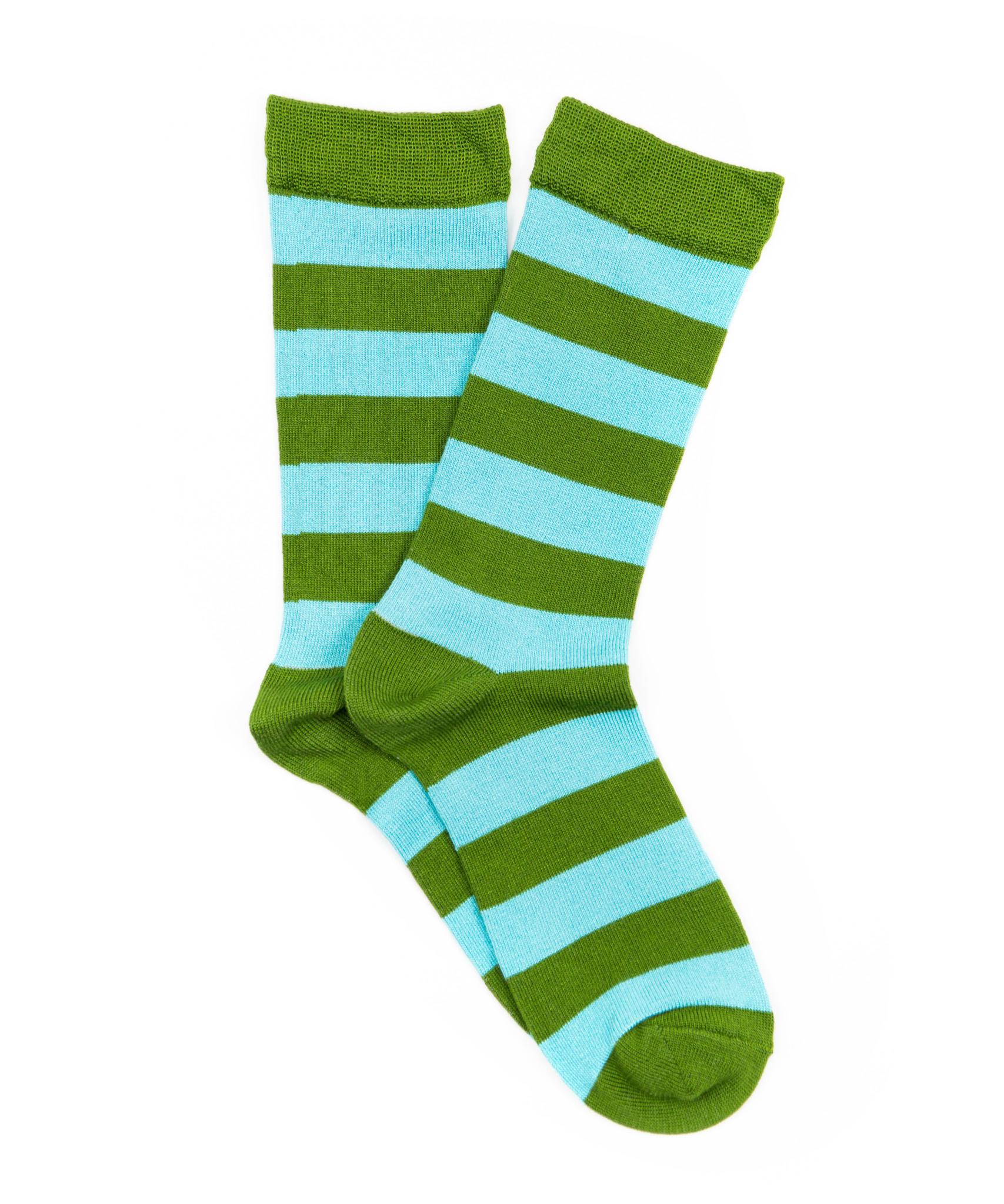 Cornflower-Olive Socks-1