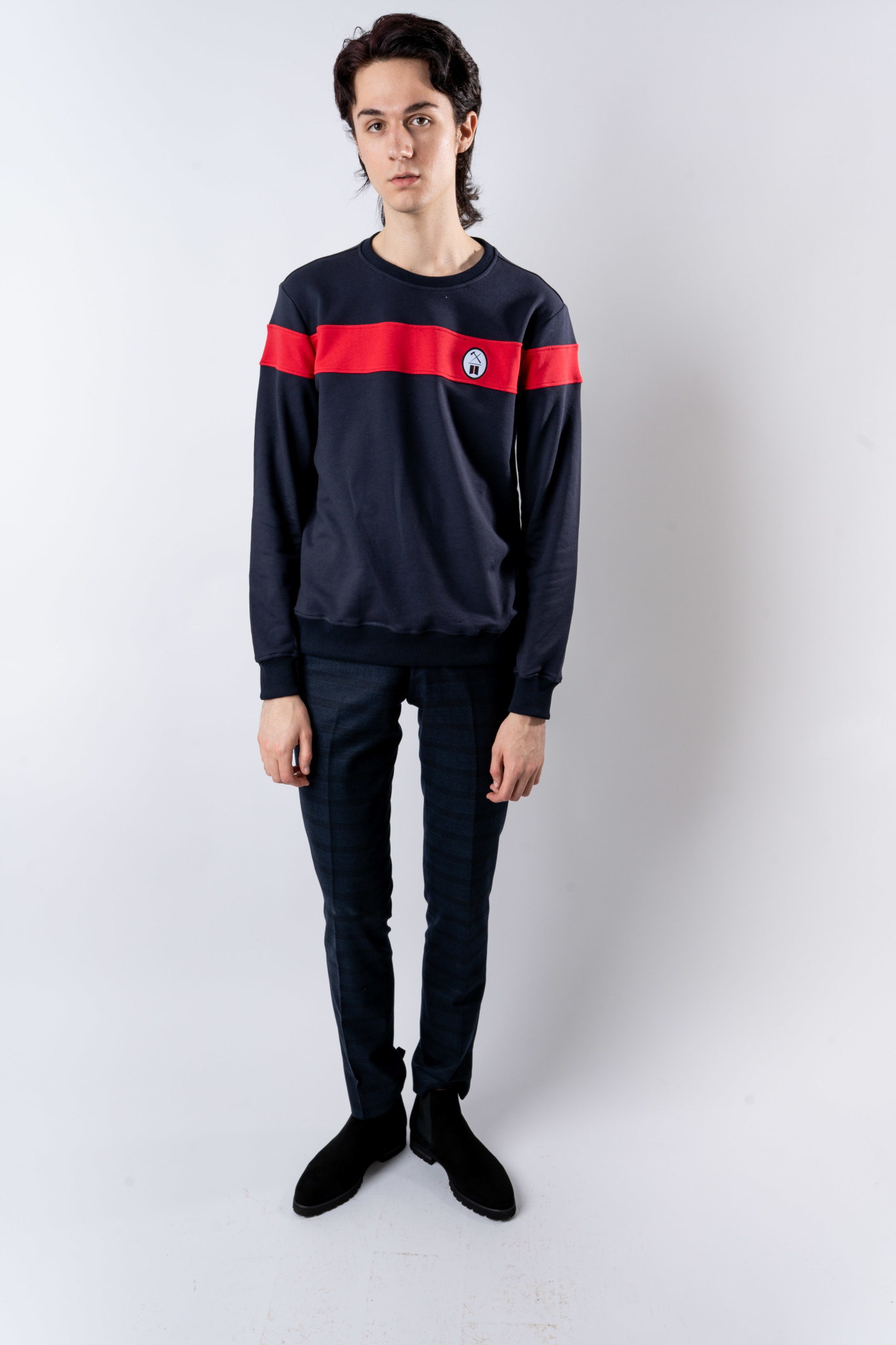 Red Block Pullover-2