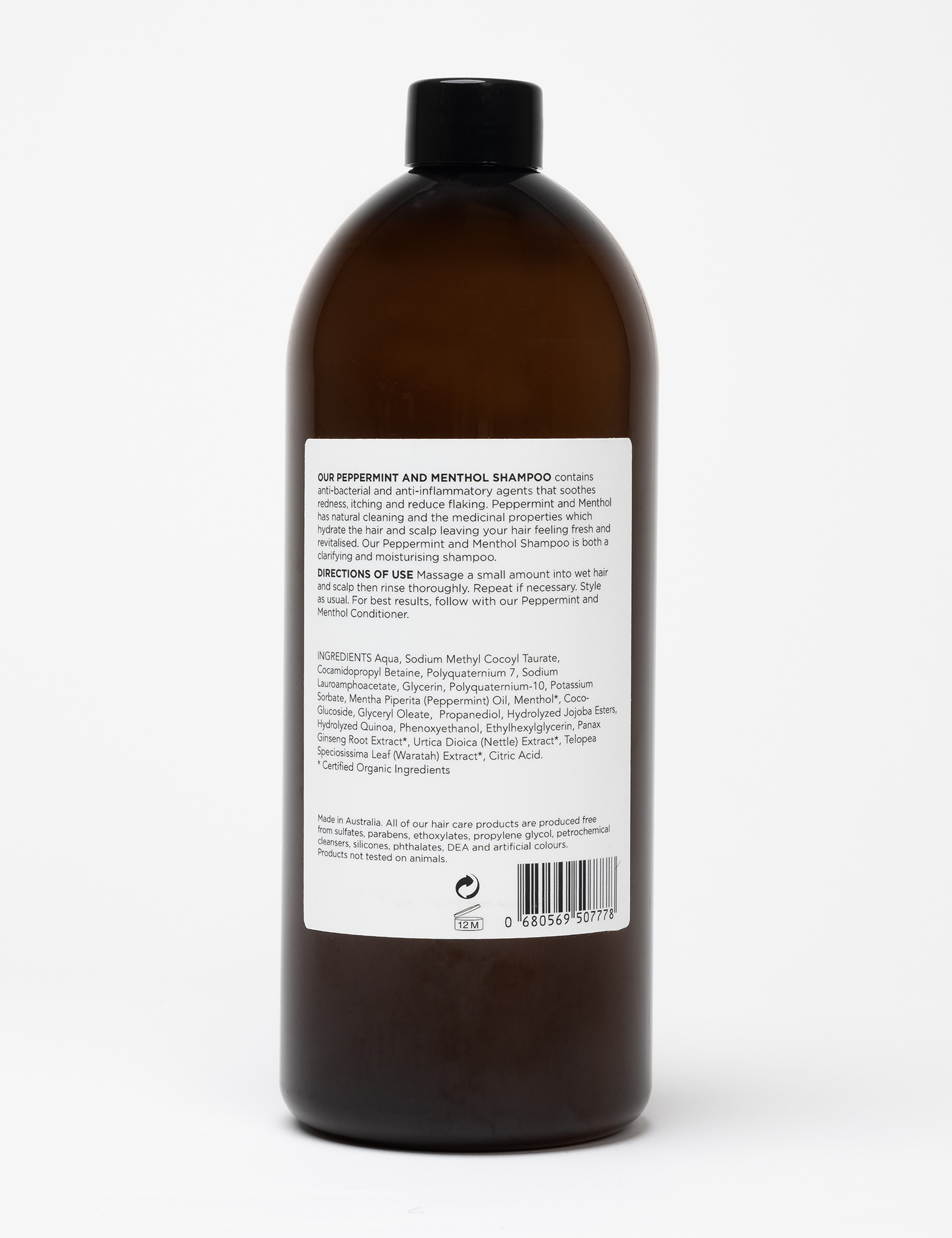Peppermint Shampoo - 1000ml-2