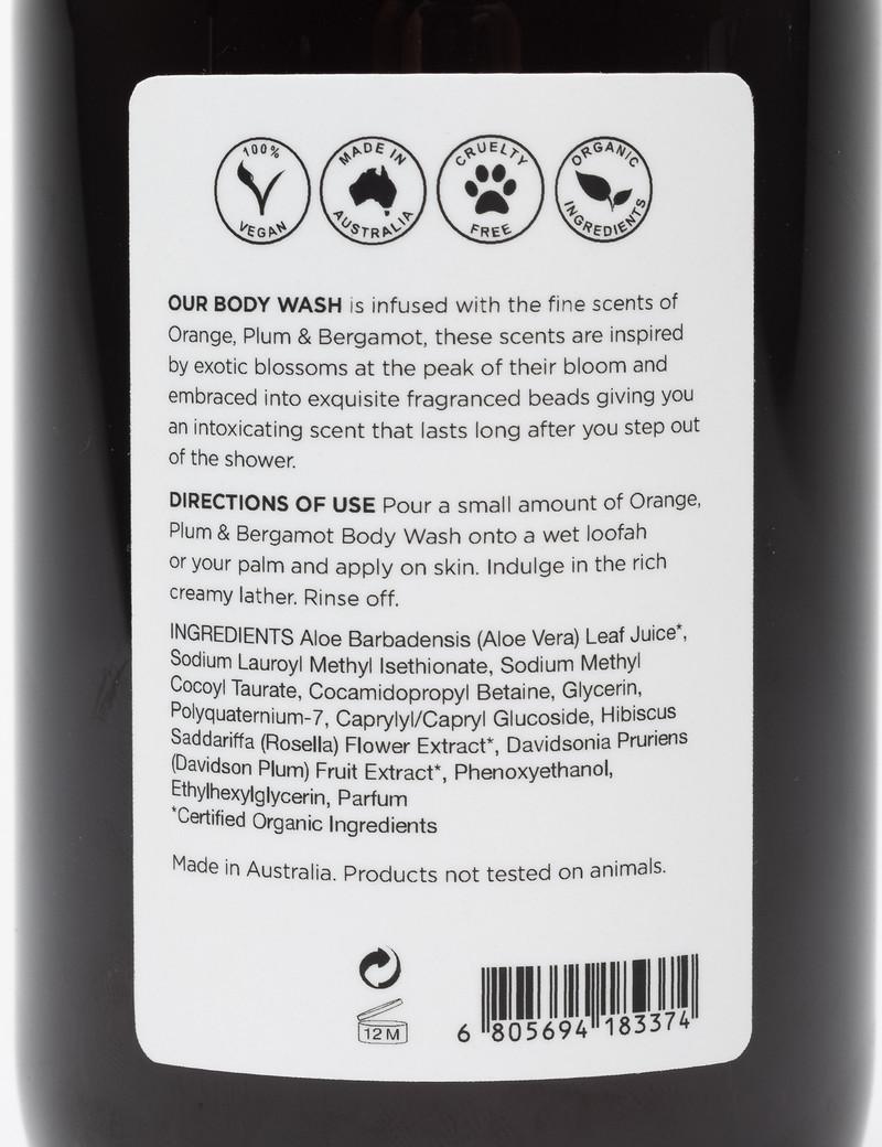 League of Rebels Body Wash - Orange + Plum + Bergamot