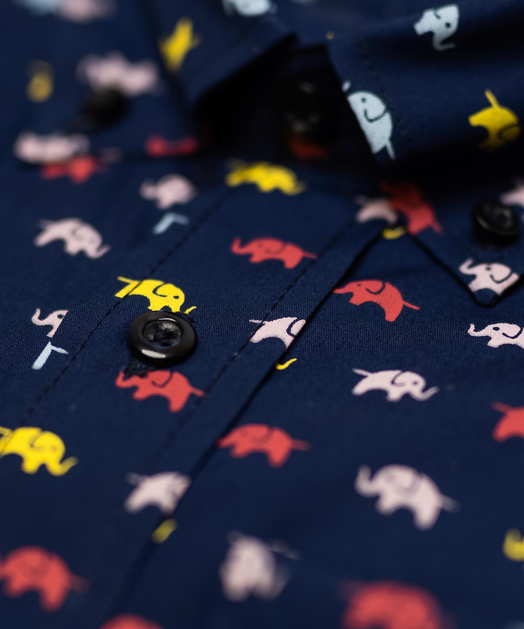 Elephant Print Shirt-2