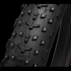 49N 45NRTH Dillinger 4 Tire - 27.5 x 4, Tubeless, Folding, Black, 120tpi, 252 Concave Carbide Aluminum Studs