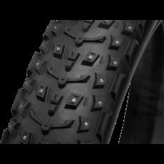 45NRTH 45NRTH Dillinger 5 Tire - 27.5 x 4.5, Tubeless, Folding, Black, 120tpi, 252 Concave Carbide Aluminum Studs