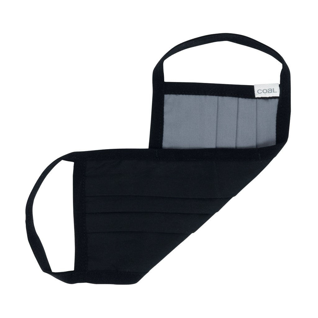 Coal Reversible Pleated Face Mask