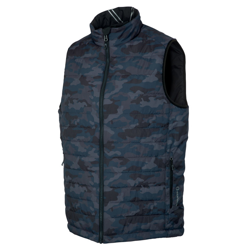 Sunice Michael Reversible Vest Charcoal Camo Black