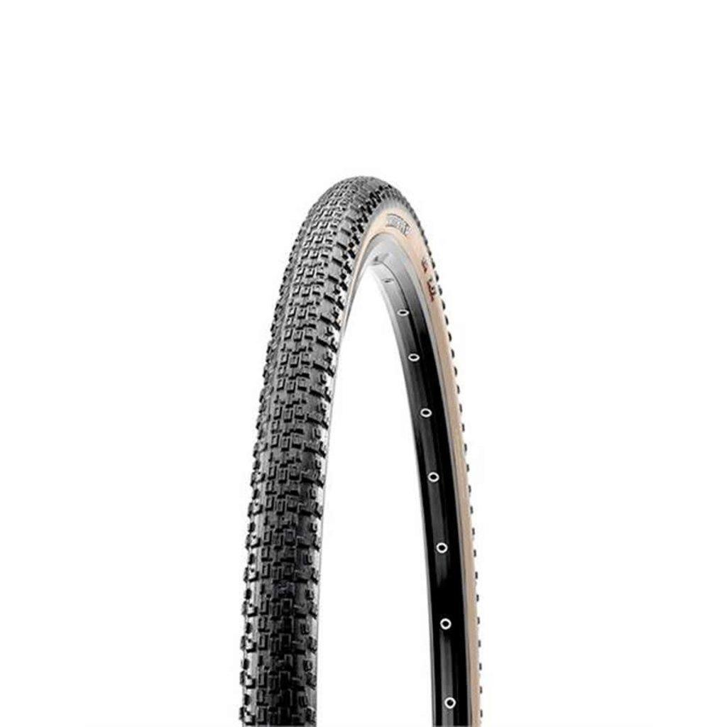 Maxxis Rambler, Tire, 700x38C, Folding, Tubeless Ready, Dual, EXO, 60TPI, Tanwall