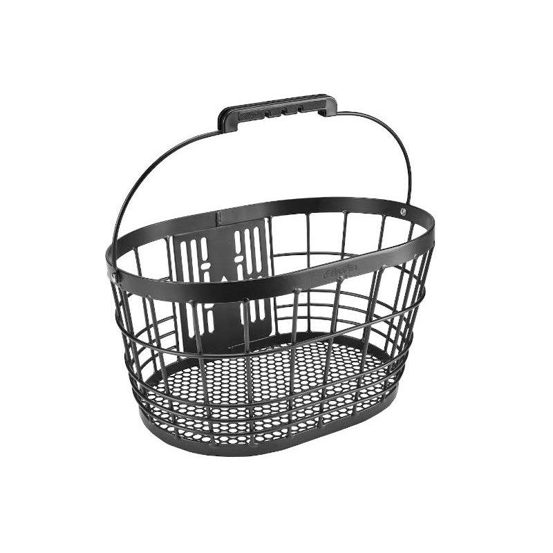 Electra Wire Basket QR Front  Black