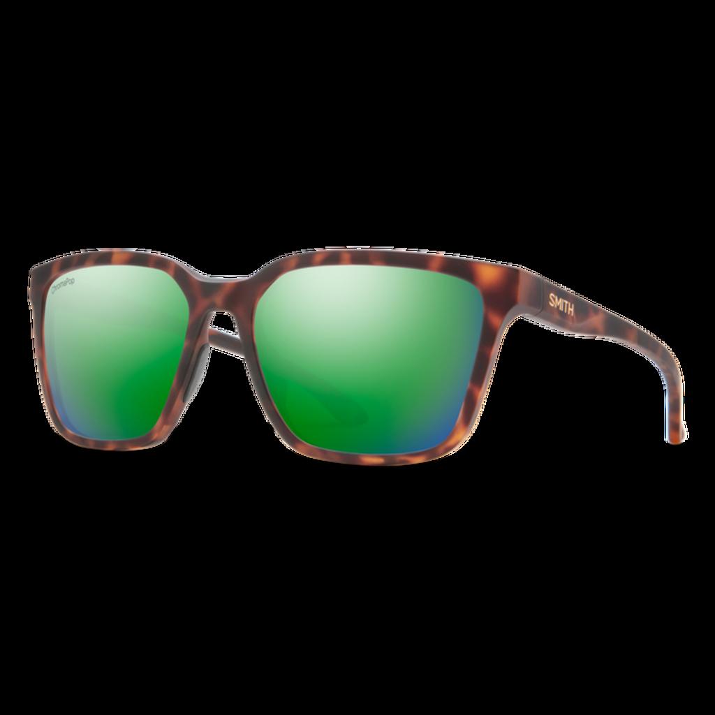Smith Shoutout Matte Tortoise ChromaPop Polarized Green Mirror