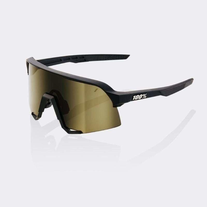 Eyewear 100% S3 Sunglasses Black Frame Gold Lens