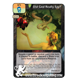 FoM: Did God Really Say?
