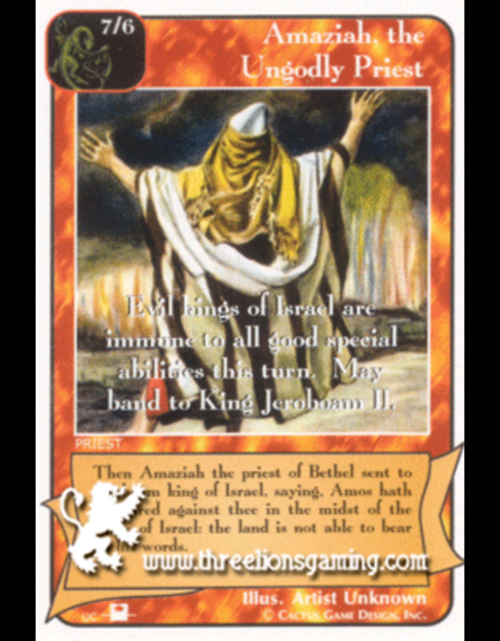 Priest: Amaziah, the Ungodly Priest
