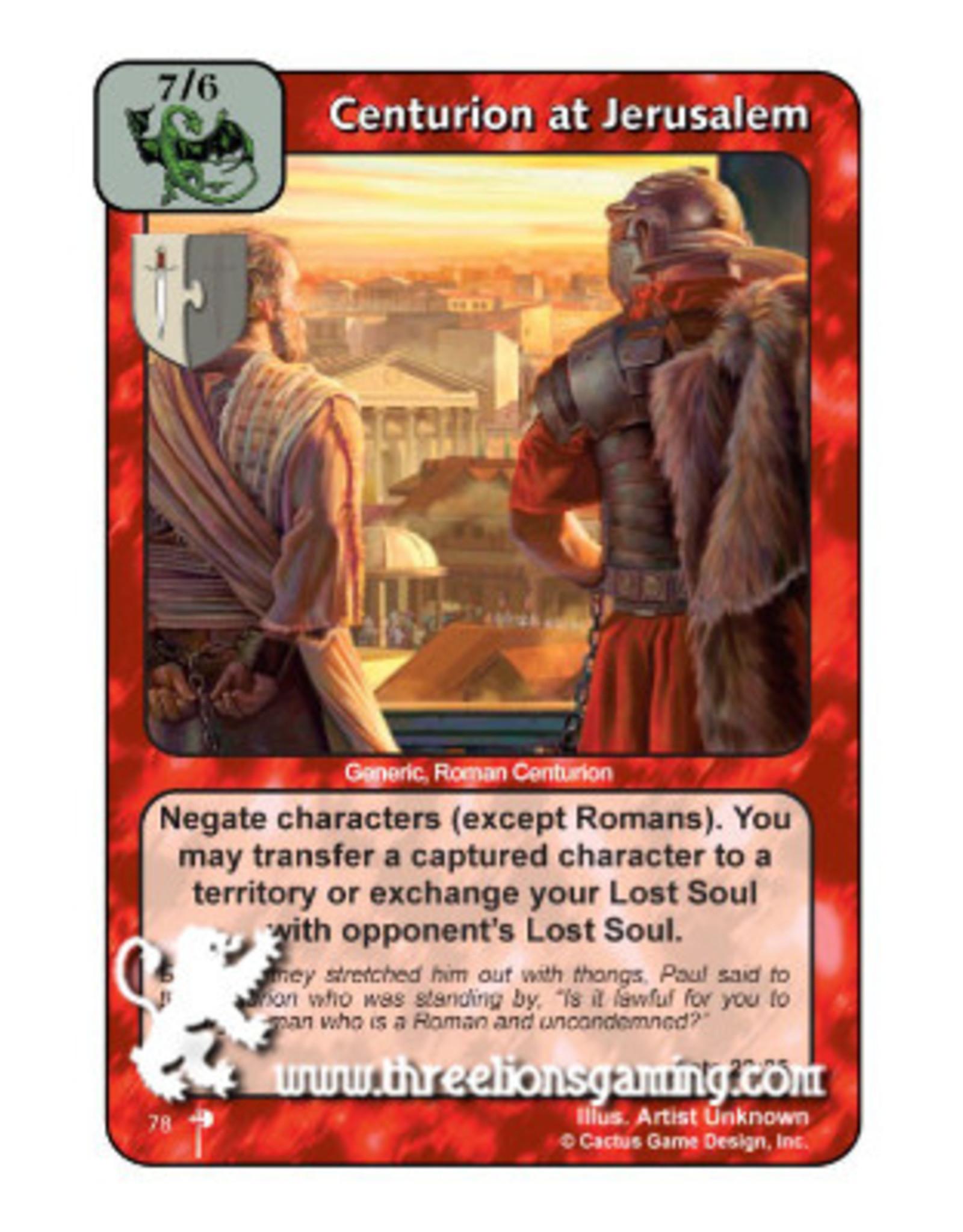 PC: Centurion at Jerusalem