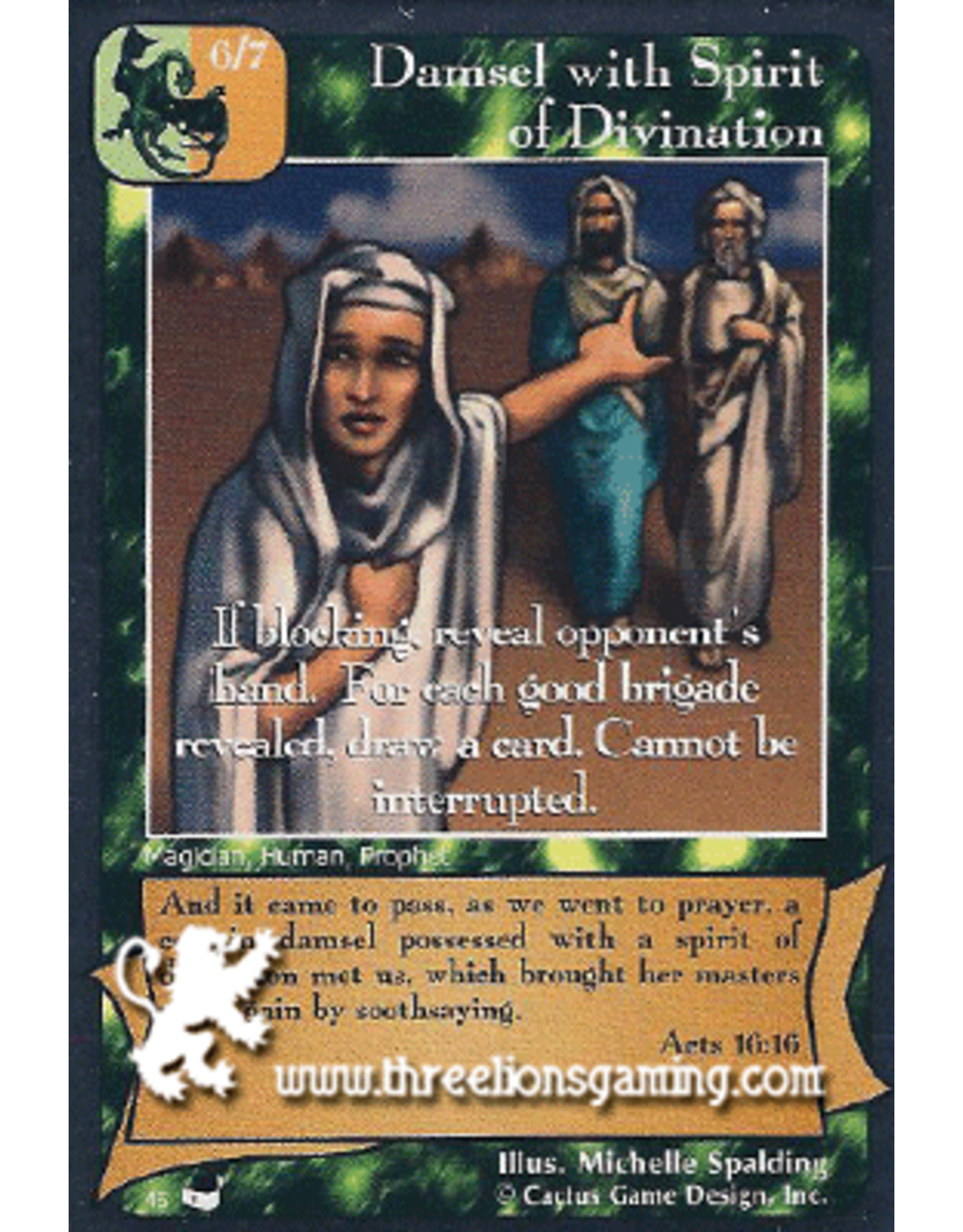 TexP: Damsel with Spirit of Divination