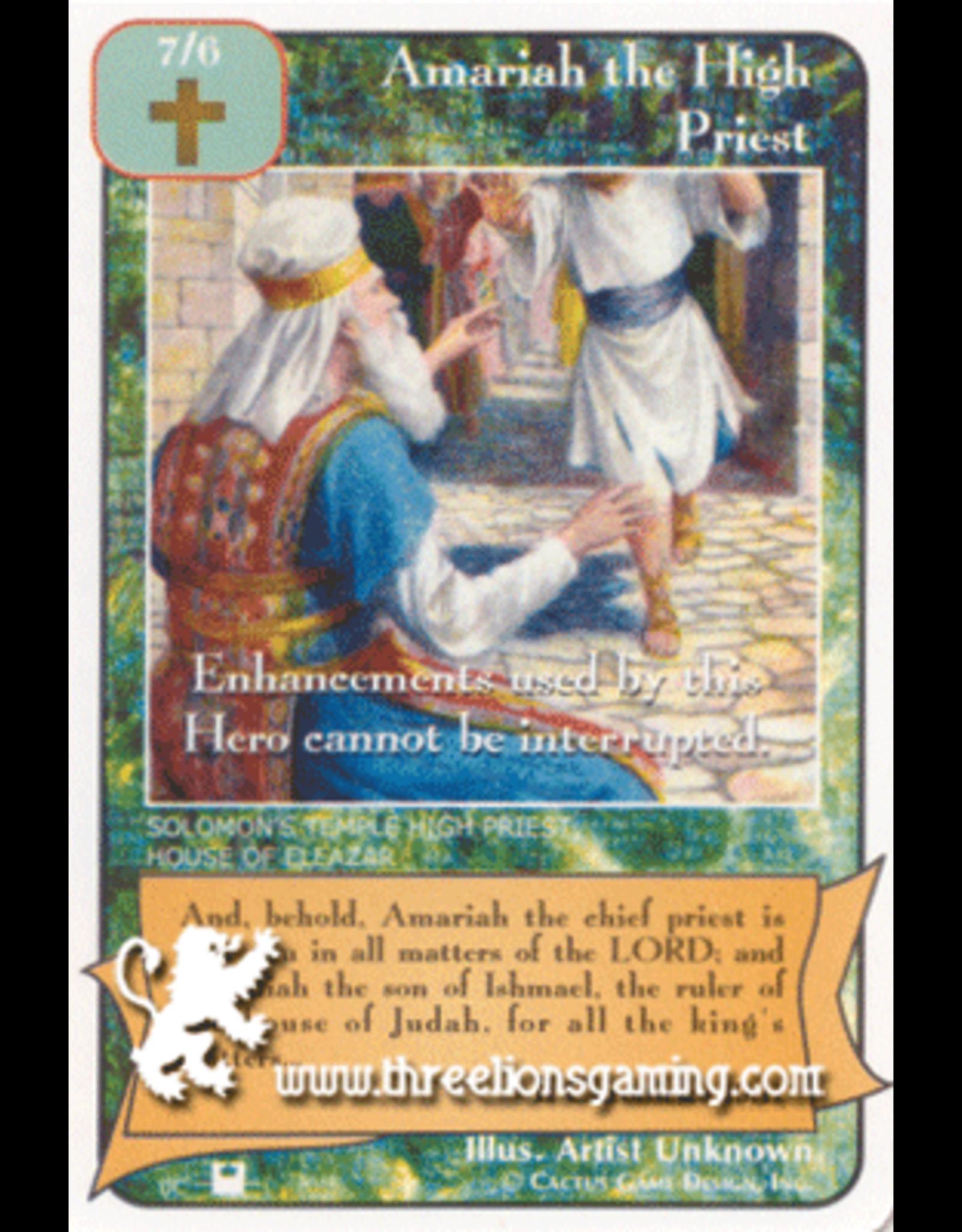 Priests: Amariah the High Priest