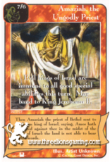 Priests: Amaziah, the Ungodly Priest