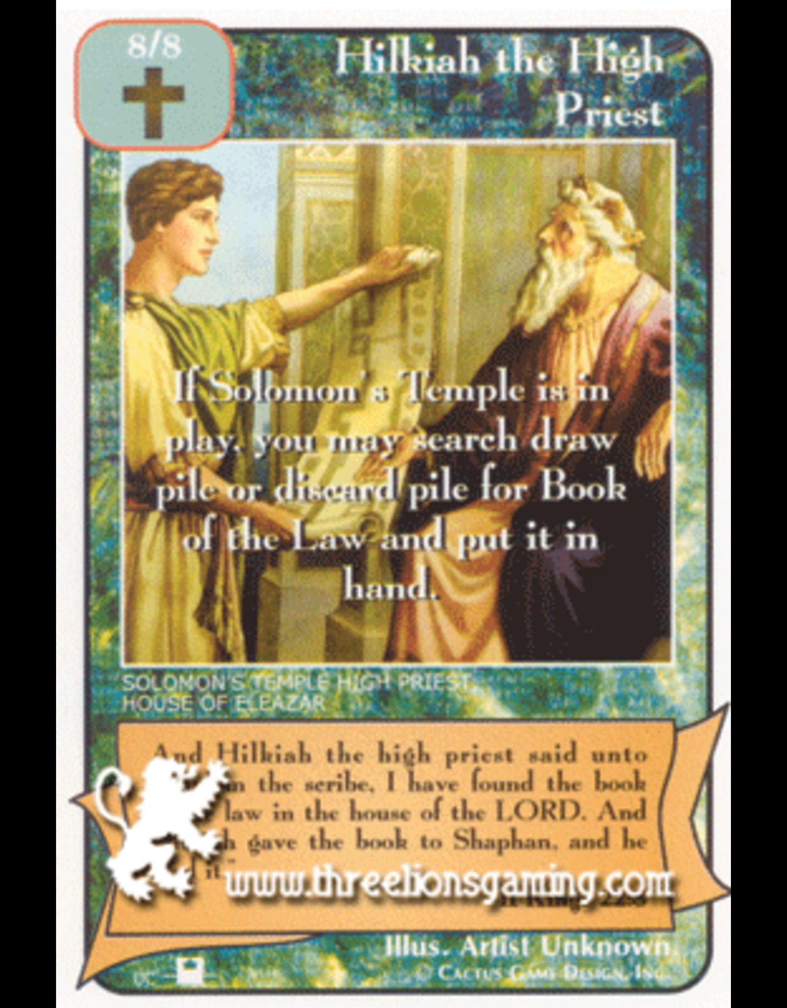 Priests: Hilkiah the High Priest