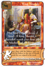 Ki: King Ahaziah