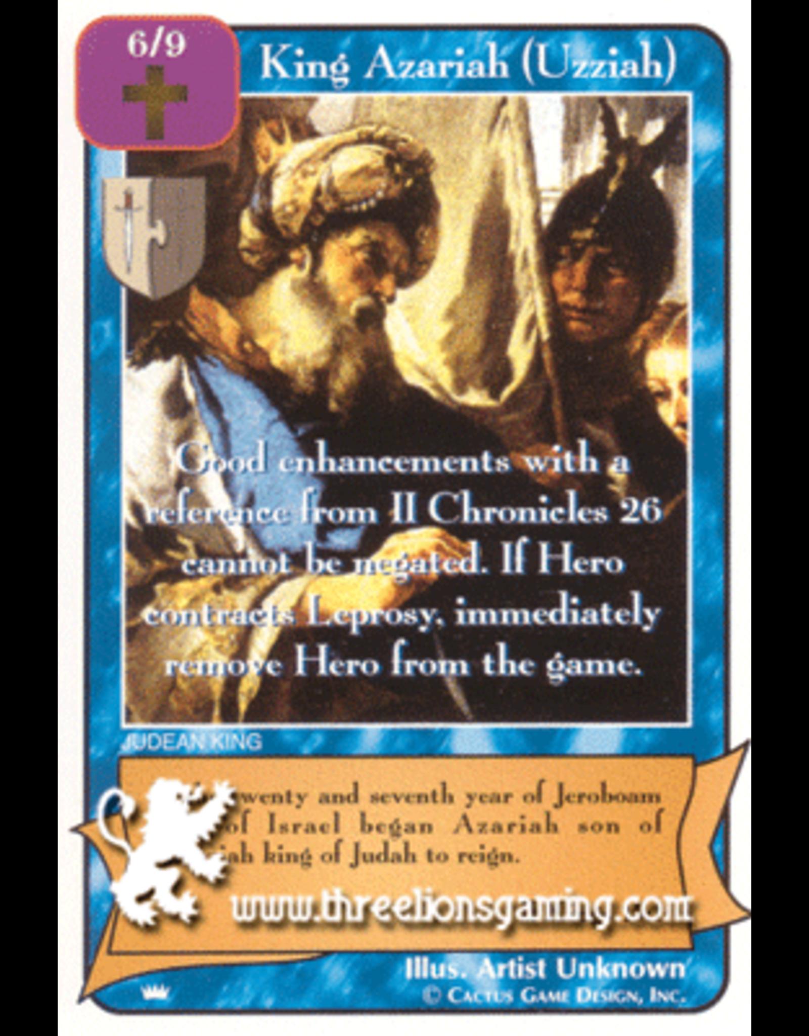 Ki: King Azarih (Uzziah)